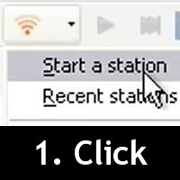 Click on Start a Station